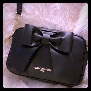 **NWT** Karl Lagerfeld Paris Black Bow Crossbody